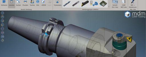 Das Werkzeugmanagement MDM-Tooling gibt per Mausklick alle detaillierten Informationen über Zusammenbau, Lagerort, zugeordnete Maschine und die dazugehörigen Aufträge aus. - Bild: Mastercam