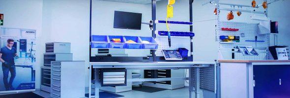 Hahn+Kolb: Ergonomische Systemarbeitsplätze