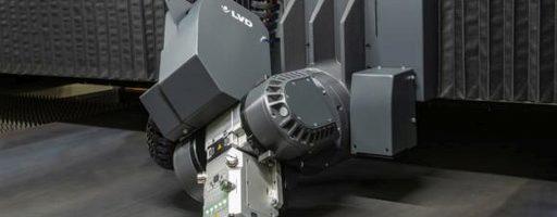 Die neue großformatige Laserschneidanlage Taurus FL von LVD kann auch abgeschrägt bis zu 45° schneiden. Ihr Faserlaser ist auch ideal für hochwertige Schrägschnitte geeignet. - Bild: LVD