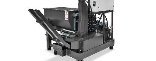 Die Hydraulikbrikettierpressen für Stahl- und Edelstahlspäne von RUF Maschinenbau brikettieren mit einem spezifischen Pressdruck von bis zu 5000 kg/cm². Die Anlagen erreichen Durchsatzleistungen von 30 bis 3000 kg/h. - Bild: RUF Maschinenbau