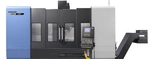 Das Drehbearbeitungszentrum VCF 5500L ist insbesondere für die Anforderungen an die Bearbeitung langer und schmaler Werkstücke für den Markt der kleinen und mittleren Autoteile entwickelt. - Bild: Doosan