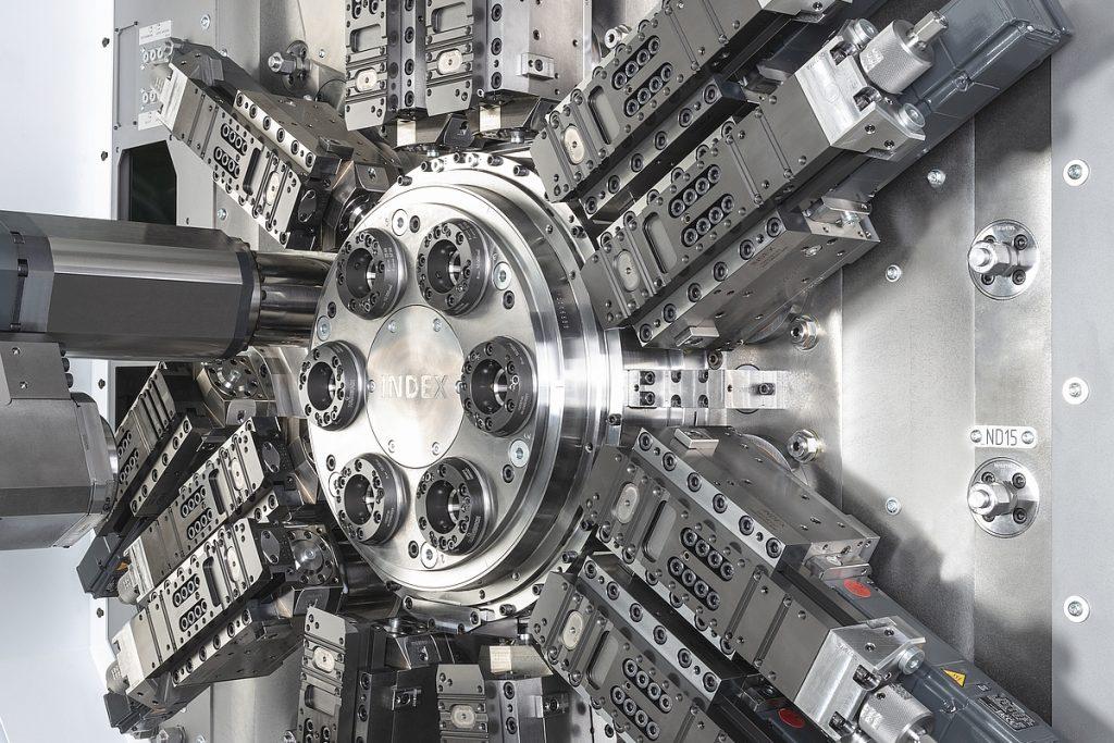 Das Schlitten-Schnellspannsystem des MS24-6 mit W-Verzahnung erlaubt es dem Anwender, die Werkzeughalter ohne kompliziertes Ausrichten sehr schnell zu rüsten. Denn die genaue Ausrichtung ist über die W-Verzahnung des Schlittens und die positiven Zähne des Werkzeughalters schon fest vorgegeben. - Bild: Index