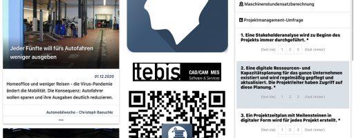 Tebis Consulting ermöglicht mit seiner Consulting-App einen direkten Zugriff auf das gesammelte Wissen des Tebis-Beratungsunternehmens. Übersichtliche Funktionen, Aktuelle Brancheninfos und eine gut gefüllte Toolbox schaffen echten Mehrwert für die Werkzeug-, Modell- und Formenbauer. - Bild: Tebis