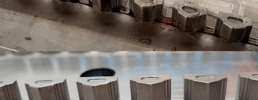 Das Werkzeug war seit vielen Jahren im Einsatz, und mit der Zeit hatte sich die Oberfläche in den Nestern abgenutzt. Die Einsätze wurden gereinigt, glasgestrahlt und mit einer 15 µm starken Schicht aus dem Portfolio der CCMold-Correct-Beschichtungen überzogen. Damit waren die Maße wieder in der Toleranz. Bilder: CemeCon