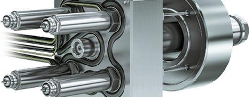 Das Hochleistungsheißkanalsystem L2X Mikro von Ewikon für den Einsatz auf Kleinspritzgießmaschinen ist ab sofort auch als kompakte 4-fach-Variante inklusive Nadelverschlusstechnikfür Schussgewichte um 0,01 g pro Düse erhältlich. - Bild: Ewikon