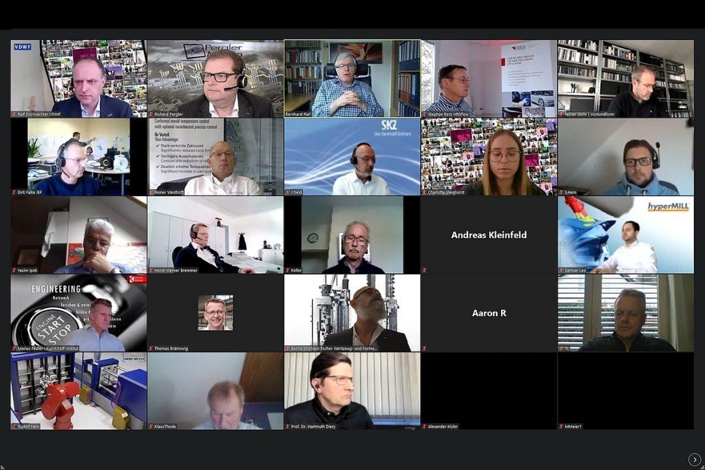 Fast 200 Teilnehmer waren online beim Horber Werkzeugtag 2021 dabei. Auf sie wartete ein bunter Strauß aus Themen rund um die Werkzeugtemperierung.  - Bild: Pergler Media