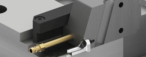 Sicherer Halt: So kann beispielsweise die neue Blattfeder Rollenraste E 3050 Typ A von Meusburger in einer Formplatte verbaut werden. - Bild. Meusburger