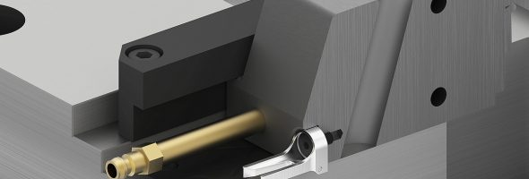 Meusburger: Schiebersicherung mit Blattfeder sorgt für Sicherheit beim Werkzeughandling