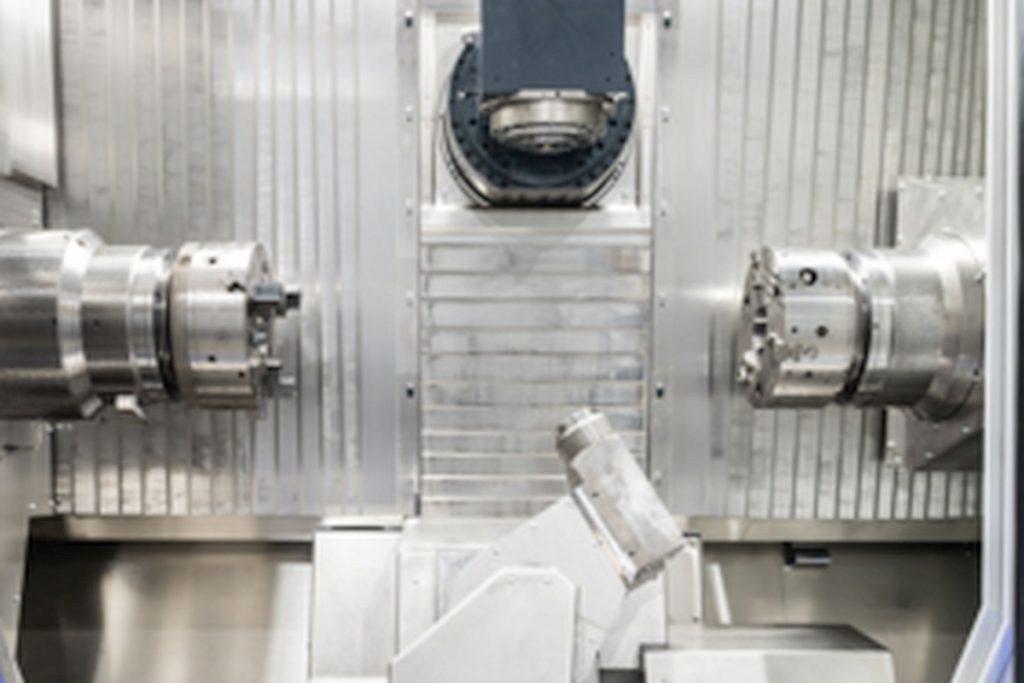 Die WFL M20 Millturn hat Verfahrwege in X/Y/Z von 575 x 260 x 1250 mm. Ihre Domäne ist insbesondere die Bearbeitung von Werkstücken bis Durchmesser 500 mm. - Bild: WFL