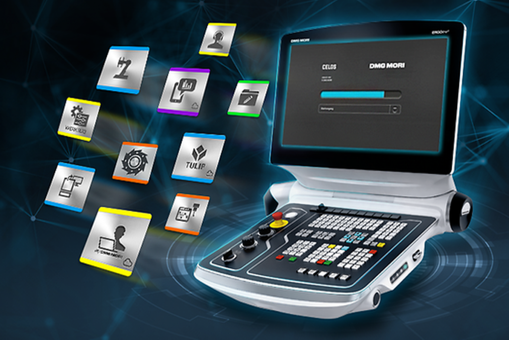 Stetig weiterentwickelt und mit einer kontinuierlich wachsenden Zahl nützlicher Apps: die Plattform Celos von DMG Mori. Im Verlauf des Jahres erfährt das System mit Celos Next eine Neuauflage. - Bild: DMG Mori