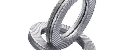 Mit den Keilsicherungsscheiben Z693/... hat Normalienhersteller eine Sicherung für Schrauben im Programm, die auch bei Schwingungen und Vibrationen wirksam ein Aufdrehen und damit ein Lösen der Verbindung verhindern kann. - Bild: Hasco