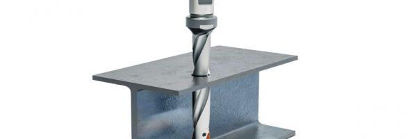 Mapal: Mit QTD-Steel-Pyramid-Schneidplattenbohrer prozesssicher und wirtschaftlich in Stahlträger bohren