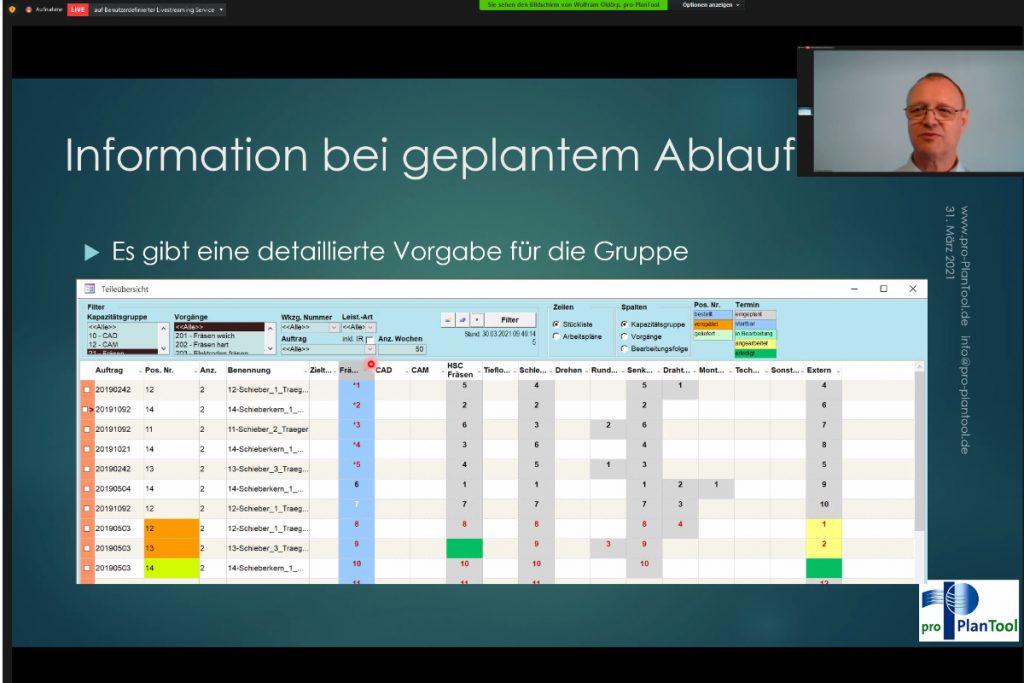 Informationssysteme im Werkzeugbau: Wolfram Oldörp von pro Plan Tool zeigt, was ein auf die Bedürfnisse des Werkzeug-, Modell und Formenbau zugeschnittenes System von einem System für die Serienfertigung unterscheidet. - Bild: Pergler Media