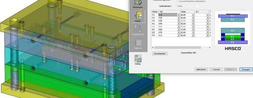Speziell für die Konstruktion sind aktuelle CAD-Daten mit Mehrwert im Formenbau von entscheidender Bedeutung. Hier arbeitet Normalienhersteller Hasco seit vielen Jahren mit dem CAD-Systemanbieter 3D Systems zusammen, der mit Cimatron ein in der Branche weit verbreitetes Softwarepaket anbietet. - Bild: Hasco