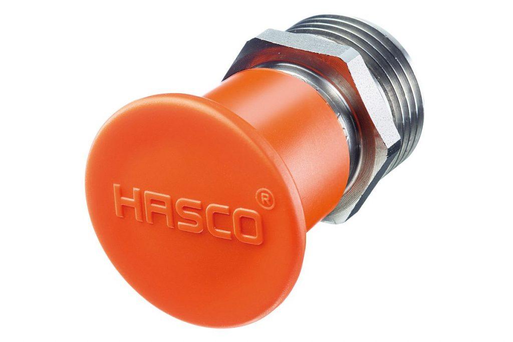 Normalienspezialist Hasco hat mit Schutzkappen für Anschlussnippel eine einfache und leicht handhabbare Lösung gegen Verschmutzung und Beschädigung der Temperieranschlüsse im Portfolio. - Bild: Hasco