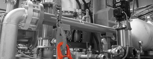 Die Doppelwirbelringschraube aus dem Hebetechnik-Sortiment von Nonnenmann richtet sich immer optimal zur Zugrichtung aus. Das gibt zusätzliche Sicherheit beim Werkstückhandling - insbesondere bei schweren und sperrigen Lasten - Bild: Nonnenmann