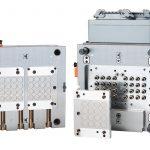 Der additiv gefertigte Heißkanalverteiler verspricht höchste Freiheitsgrade in der Konstruktion. Das additive Fertigungsverfahren macht sehr kompakte Bauformen mit Düsenabständen ab 18 mm und Bauhöhen ab 26 mm möglich. Die Heißkanalspezialisten brachten alles in einer kompakten 32-fach-Form mit einer Werkzeuggröße von gerade einmal 346 x 346 mm unter. - Bild: Hasco
