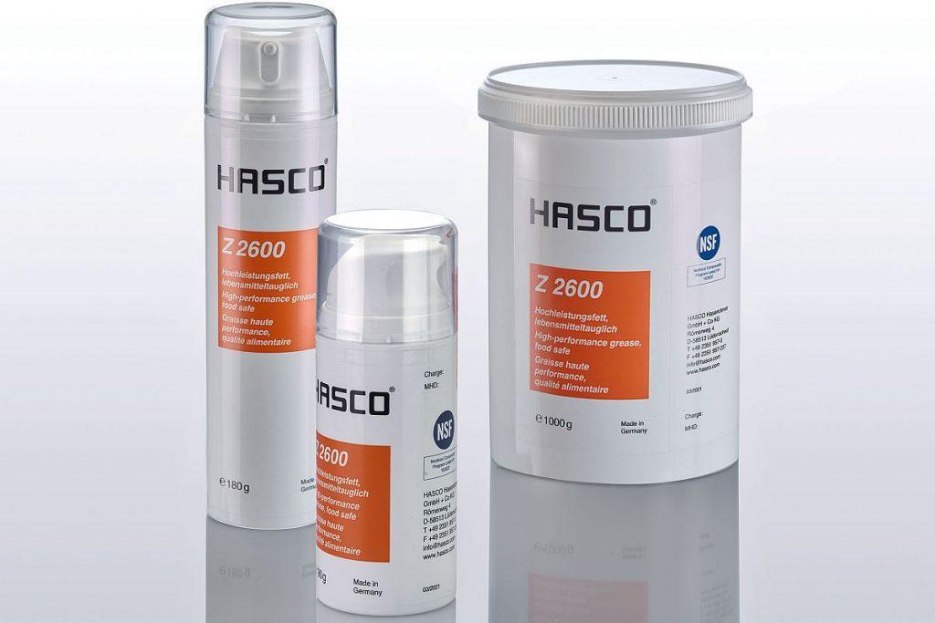 Der Lüdenscheider Normalienspezialist Hasco hat mit dem neuen Hochleistungsfett Z2600/… ein Produkt im Programm, das speziell für den Einsatz im Reinraum und in der Lebensmittelindustrie konzipiert ist. - Bild: Hasco