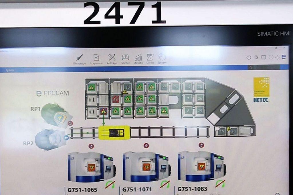 Der Leitrechner der automatisierten Linie arbeitet mit einem System von Procam. Die Software lässt sich sehr einfach bedienen. Sie verfügt über eine hohe Intelligenz und sorgt für optimale, prozesssichere und -stabile Abläufe innerhalb der Automatisierung. - Bild: Pergler Media